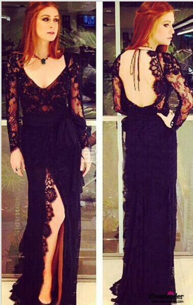 black-v-neck-high-slit-long-a-line-formal-dress-lcau0101-a