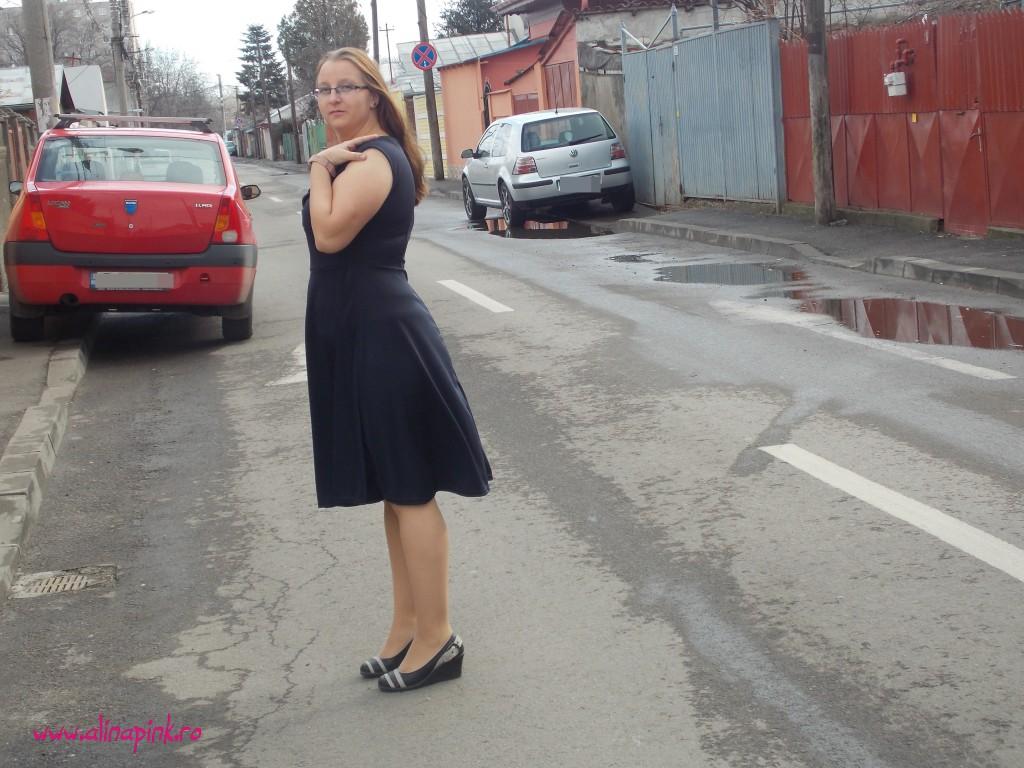 Rochie blue navy2
